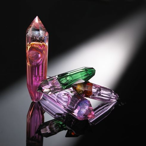 Crystal smoking hand pipe