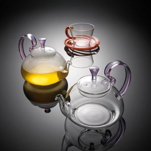 Glass herbal tea set
