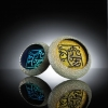 Glass dichroic image paper weight