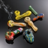 Glass smoking hand pipe